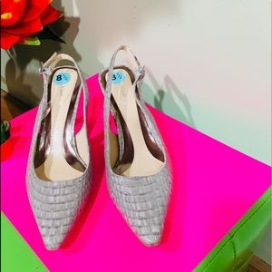 Calvin Klein Crocodile Sling back Shoes Size 81/2